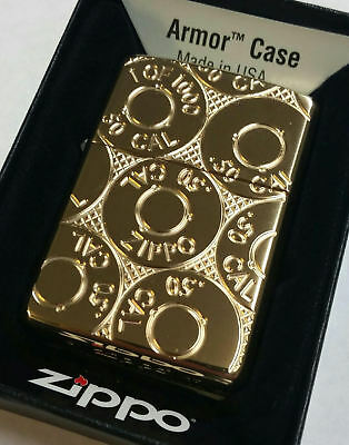 Zippo Lighter Casings  -50 Cal HP Solid Brass ~Armor Case Limited Edition