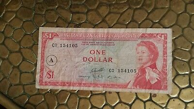 Older (1965) East Caribbean currency authority one dollar