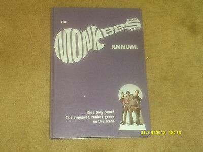 Monkees 1967 ANNUAL UK Hardcover Book w/pix,articles,comics 92 pages (VG+ shape)