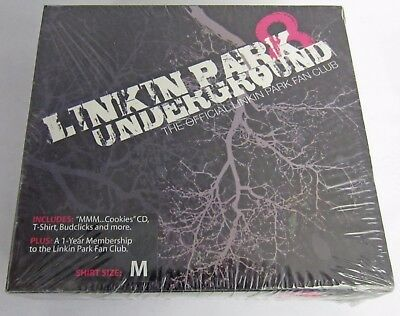 Brand New! Linkin Park Underground 8 (M Shirt Size) Fan Club Package CD + More!