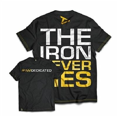 Dedicated Nutrition Gym T-Shirt IRON NEVER LIES Print RM 48 DELIVERY