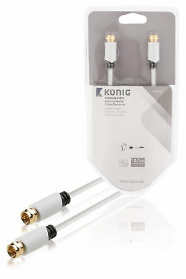 Konig Antenna Cable F-Male - F-Male 10m White