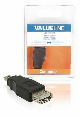 Valueline USB 2.0 Adapter Mini 5-Pin Male - A Female Black