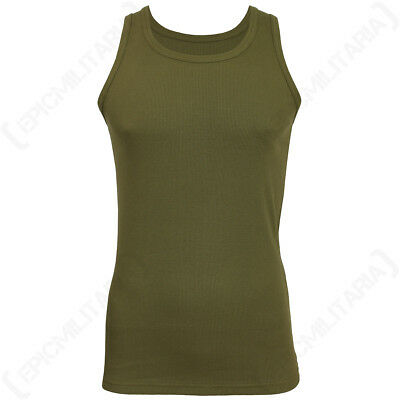 Olive Green Tank Top - Premium - Vest Army Military Army Mens All Sizes New