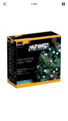 Cole and Bright 200 LED Outdoor Solar & Battery String Lights - Ice White