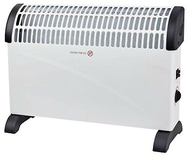 Electric Fan Hot Heater Portable Oscillating Base with Remote Control 2.2kW