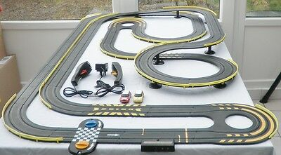 Micro Scalextric Set With Mini Cars lot 1