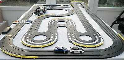 Micro Scalextric Set Porsche and Nissan Cars lot 2