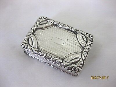 Antique Solid Silver  VINAIGRETTE by JOHN BETTERIDGE  Hallmarked BIRMINGHAM 1827