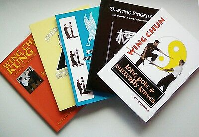 5 WING CHUN BOOKS  by Guy Edwards bundle discount deal Hong Kong streetfighting