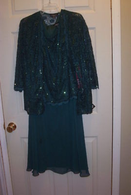 R & M Richards, Dress And Jacket , size 18W, Mother Of Bride, NWT