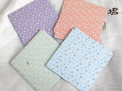 40 PASTEL 4 COLOR FLORAL ORIGAMI PAPER 10cm CHINESE JAPANESE CRAFT PARTY A10