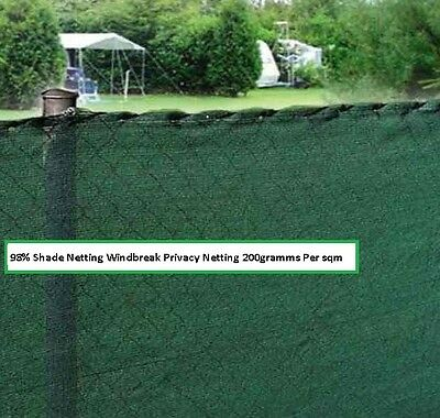 1.5m WIDE 98% SHADE SCREEN NETTING IMPROVES PRIVACY SOLD BY RUNNING METER