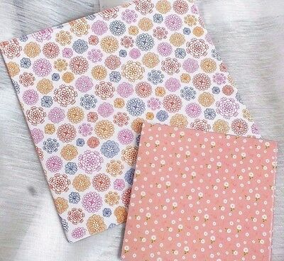 40 JAPANESE PINK COLOR FLORAL ORIGAMI PAPER 10 & 15cm CRAFT CHINESE PARTY A5