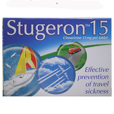 Stugeron Tablets Travel Sickness 15 Tablets