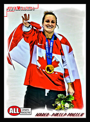 MARIE-PHILIP POULIN Art Revolution by All Sports Magazine Only 6 made!!! Canada