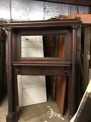 Cm 109 Antique Quartersawn Oak Fireplace Mantle 60 X 84