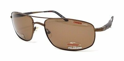 78aa6fc060a85 Authentic Carrera Sunglasses 8011 S R81DY Brown Frames Polarized Lens 62MM