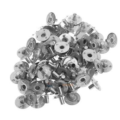 200pcs Metal Candle Wick Sustainer Tabs DIY Accessories Handmade Kits
