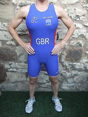 New Ladies Womens Top Quality Orca Team Gb Triathlon Tri Race Suit Size Uk 10