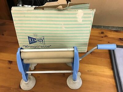 Vintage Kenroy Wringerette small table top mangle With box