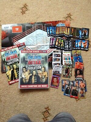 Joblot Of 237 Wwe Cards, Binder And Game Mat
