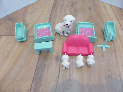 Puppy In My Pocket Hospital / Vet Accessories Vintage Set Dr & Baby Dalmatians