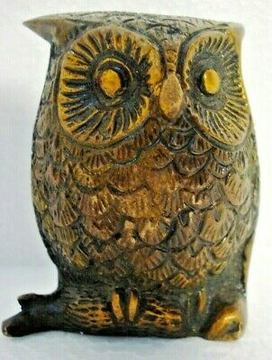 LARGE -  Vintage Style OWL statue - BRASS - RARE - Little & Very Nice (494)