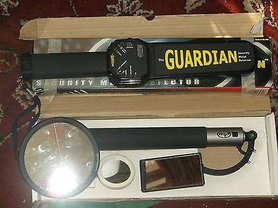 Metal Detector Security Wand Guardian & Inspection. Mirror