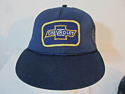 Vintage 80's 90's Youth Kids CHEVROLET Snapback Truckers Hat New Old Stock Tags