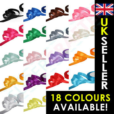 High Quality Double Sided Satin RIBBON 20mm *18 COLOURS* *SOLD PER 3 METRES*