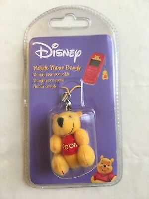 DISNEY WINNIE L'OURSON  STRAP DANGLY petite mini peluche WINNIE