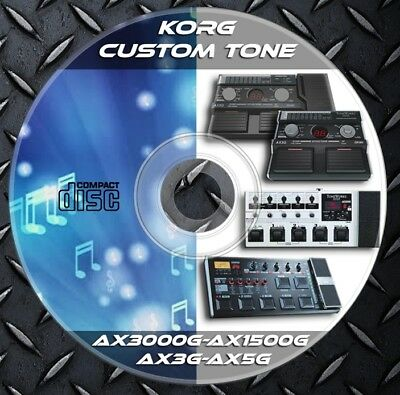 Patches KORG AX3000G-Ax1500G-AX3G and AX5G. Multi Effects Processor. Custom Tone