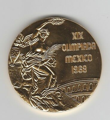 Winner medal    XX.Olympic Games  MEXICO 1968  -  Gold platet  !!  VERY RARE