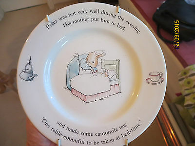 Peter Rabbit Wedgwood Plate suit Christening or Birth