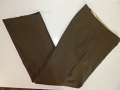 Vtg 1900's RETRO ANTIQUE Men OLIVE DRAB Dress Pants Trousers GAB Slacks 36 x 32