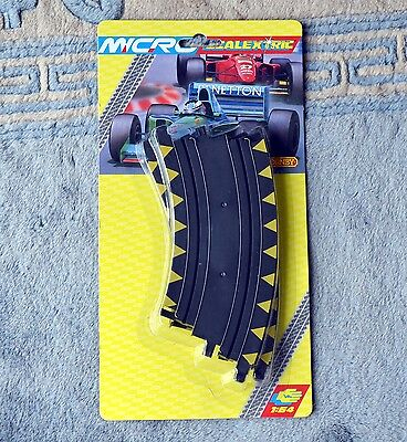 """Scalextric Micro G104 Banked Curve Track 2pcs 45° 6"""" 153mm 1:64 NEW & SEALED"""