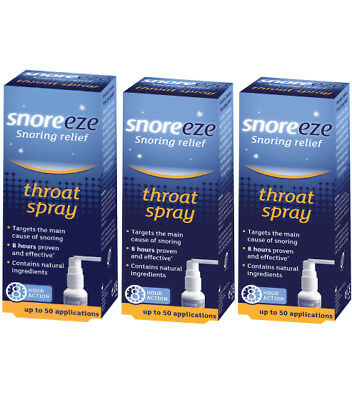 Triple Pack - Snoreeze Snoring Relief Throat Spray 23.5ml