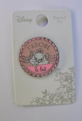 "Disney Aristocats Marie Pin ""J'ADORE le lait"" I love milk - Loungefly MOC"