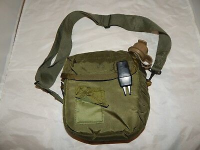 Vintage US Military 2 Quart Collapsible Canteen w/Cover Pouch & Strap