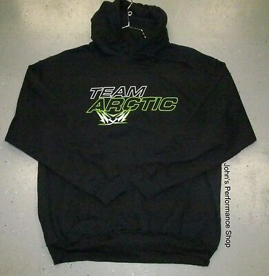 Arctic Cat Black Team Arctic Flag Hooded Sweatshirt Hoodie L XL 2X 3X 5279-394
