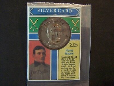 1992 Honus Wagner Silver Card One Fine .999 Pure Silver -Sealed -Smoke Free Home