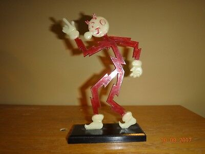 "Vintage 5"" Reddy Kilowatt On Original Base Very Nice!"