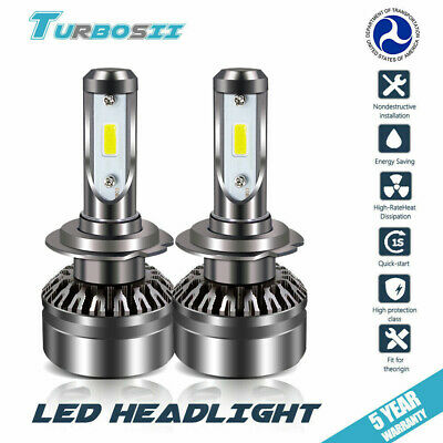 2x H7 LED Headlight Kit for Audi A3 A4 A5 A6 Q5 Q7 TT Quattro 3000 6500K 8000K
