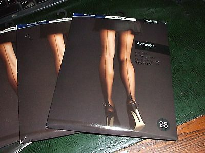 2 pairs 1940's vintage style back seamed tights land girl tea dance size Medium