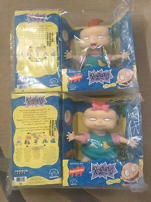 "1997 Applause 12"" Phil and Lil Rugrats Dolls Nickelodeon Factory Sealed NEW"