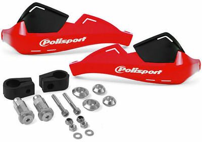 Polisport Evolution Integral Handprotektoren Handschutz MX Enduro rot 22mm