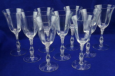 """Cambridge 3121 Clear Optic (9) Tall Water Goblets, 8 1/4"""""""