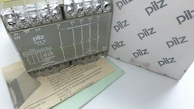 Pilz PZE/5 safety relay 17774 24VDC 4 safety and 1 aux contacts 8A  PZE5