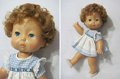 Russian Vintage Temper Doll,Plastic,Marked Dnepr,USSR,70's. Very RARE!